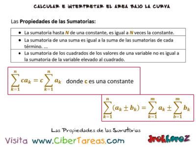 Propiedades de las Sumatorias – Cálculo Integral 0