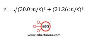 Tiro horizontal, ejemplo – Física 1 7