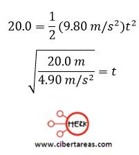 Tiro horizontal, ejemplo – Física 1 1