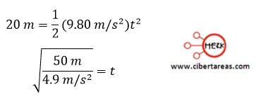 Tiro horizontal, ejemplo – Física 1 4