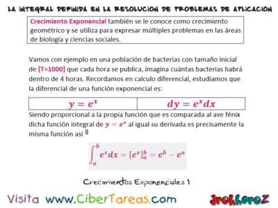 Crecimientos Exponenciales y Ejemplos – Cálculo Integral 0