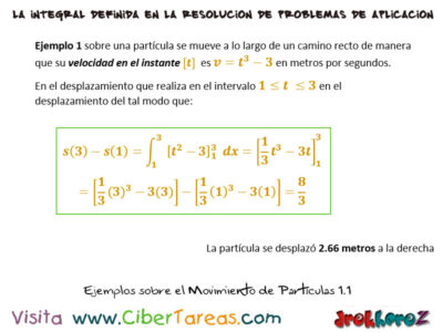 Movimiento de Partículas y Ejemplos – Cálculo Integral 0