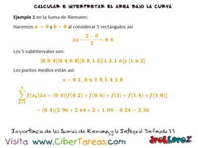 Ejemplos de la Importancia de las Sumas de Riemann y la Integral Definida- Cálculo Integral 0