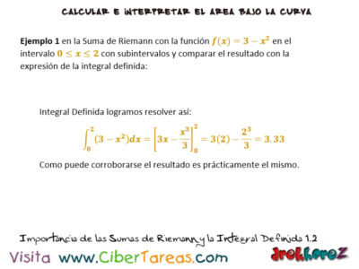 Ejemplos de la Importancia de las Sumas de Riemann y la Integral Definida- Cálculo Integral 1