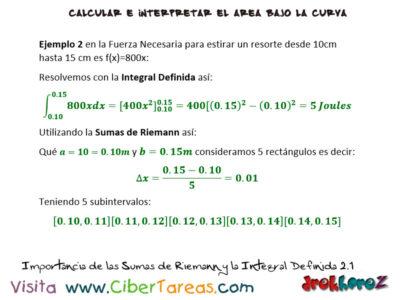 Ejemplos de la Importancia de las Sumas de Riemann y la Integral Definida- Cálculo Integral 2