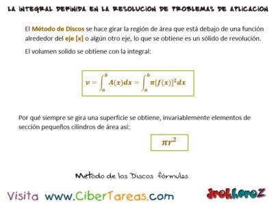 Método de Discos y Ejemplos – Cálculo Integral 0