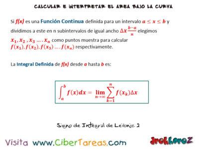 Integral Definida – Cálculo Integral 2