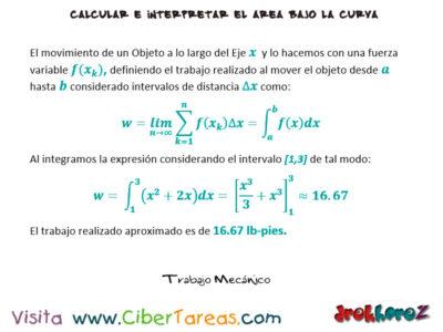 Trabajo Mecánico con Ejemplos – Cálculo Integral 0