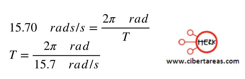 Velocidad angular instantánea, ejemplo – Física 1 4