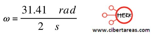Velocidad angular instantánea, ejemplo – Física 1 2