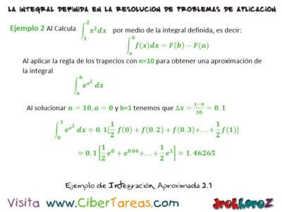 Ejemplos de Integración Aproximada – Cálculo Integral 3