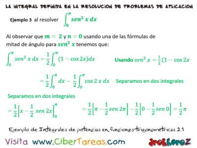 Ejemplos de Integrales de Potencias en Funciones Trigonométricas – Cálculo Integral 4