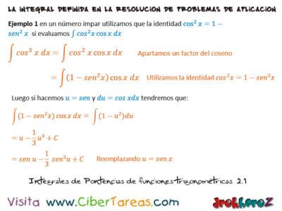 Ejemplos de Integrales de Potencias en Funciones Trigonométricas – Cálculo Integral 0