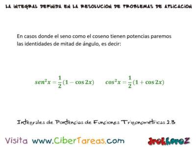 Ejemplos de Integrales de Potencias en Funciones Trigonométricas – Cálculo Integral 3