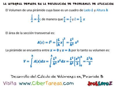 Ejemplos de Cálculo de Volúmenes – Cálculo Integral 3