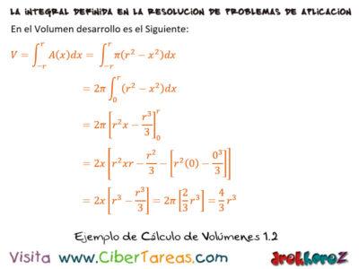 Ejemplos de Cálculo de Volúmenes – Cálculo Integral 2