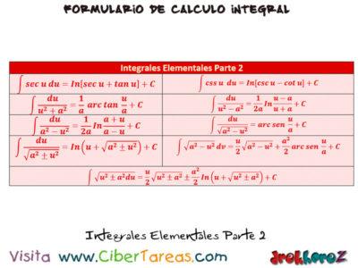 Integrales Elementales Tablas – Cálculo Integral 1