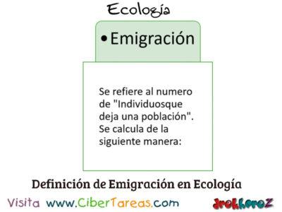 Emigración en Poblaciones en Conceptos Fundamentales – Ecología 0