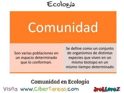 Comunidad en los Conceptos Fundamentales – Ecología 0