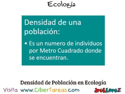 La Densidad de una Población en los Conceptos Fundamentales – Ecología 0