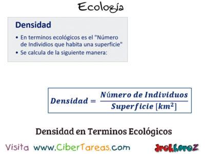 La Densidad de una Población en los Conceptos Fundamentales – Ecología 2