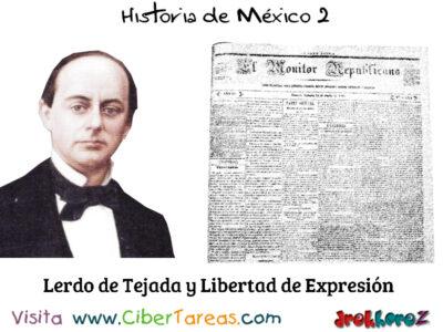 Lerdo de Tejada y Libertad de Expresion Historia de Mexico