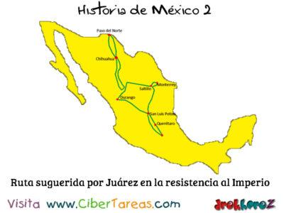 Benito Juárez en la Resistencia mapa – Historia de México 2 0