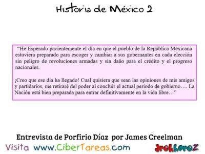 Entrevista Díaz y Creelman – Historia de Ḿéxico 2 0