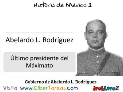Gobierno de Abelardo L. Rodríguez en la Importancia de las instituciones – Historia de México 2 0