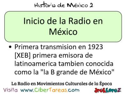 Radio en Movimiento Culturales de la Época en la importancia – Historia de México 2 0