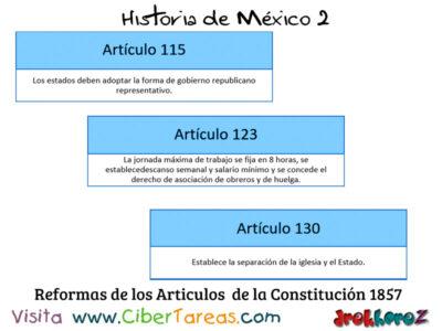 Reforma de los Artículos de la Constitución de 1857 en las Etapas de la revolución mexicana 2 – Historia de México 2 1
