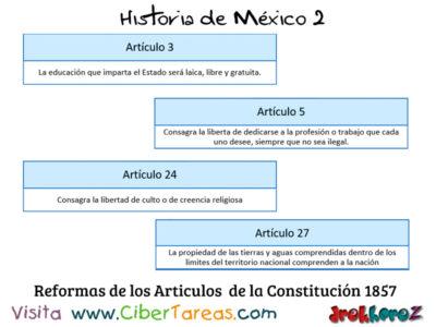 Reforma de los Artículos de la Constitución de 1857 en las Etapas de la revolución mexicana 2 – Historia de México 2 0
