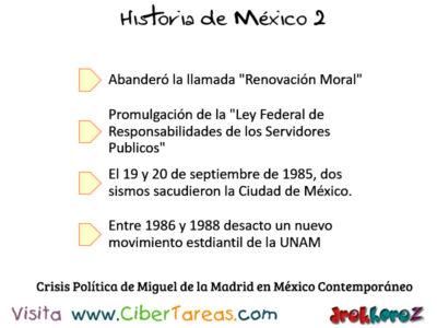 Crisis Politica de Miguel de la Madrid en Mexico Contemporaneo Historia de Mexico