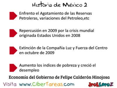 Economia del Gobierno de Felipe Calderon Hinojosa en Mexico Contemporaneo Historia de Mexico