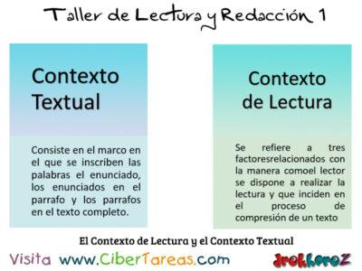 El Contexto de Lectura y el Contexto Textual Taller de Lectura y Redaccion